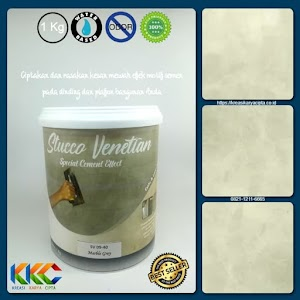Cat Stucco Venetian Motif Semen SV 09-40 - Marble Grey - Kemasan 1Kg