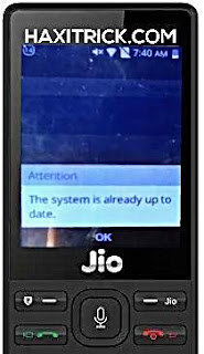 jio phone software update problem