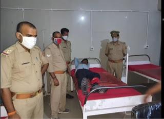मीरगंज पुलिस ने मुठभेड़ में बदमाश के पैर में गोली मारकर किया गिरफ्तार  | #NayaSaberaNetwork