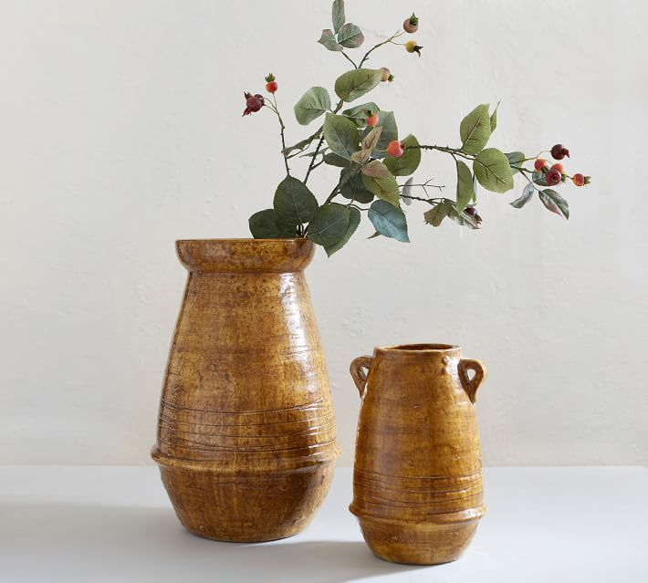terra cotta vases fall decor