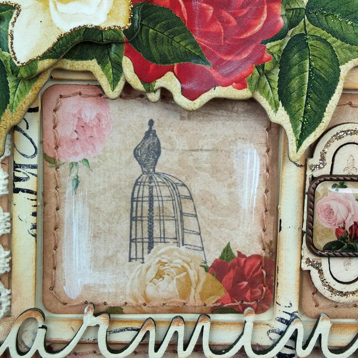 BoBunny: Shabby-chic Juliet Wall Art