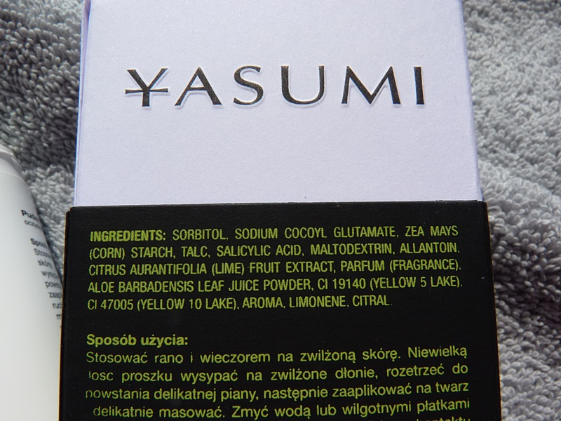Yasumi Clean & Fresh, Silky Powder inci ingredients