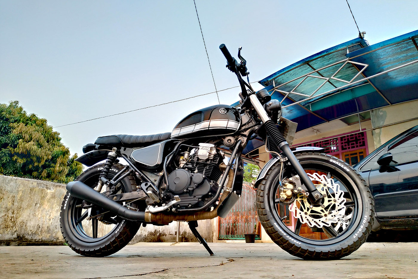modifikasi yamaha tracker scorpio