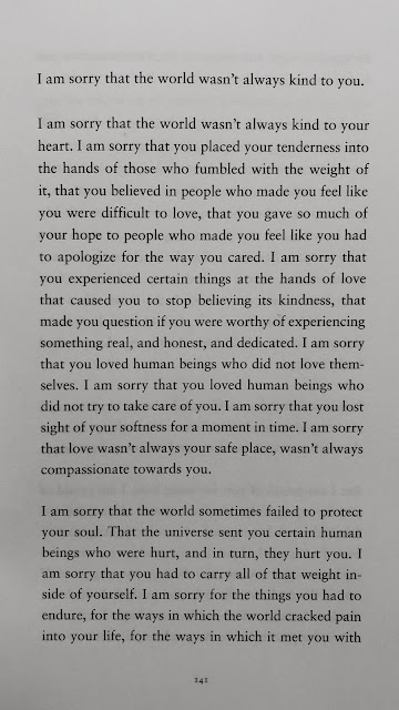 i am sorry that the world wasn't always kind to you