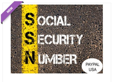 VCC Social Security Number Paypal USA