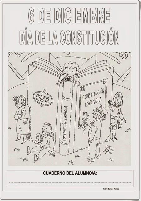 """Día de la Constitución Española (6 de diciembre): """"Cuaderno de trabajo"""""""