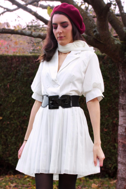 noracora classic retro robe blanche