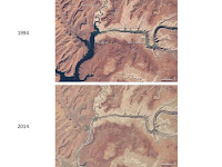 Changes in the Colorado River (1994 to 2014) (Credit: NASA) Click to Enlarge.
