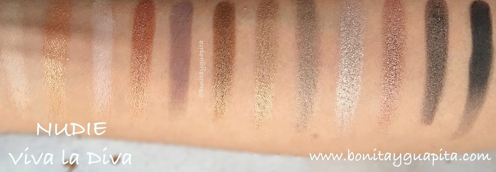 nudie viva la diva swatches