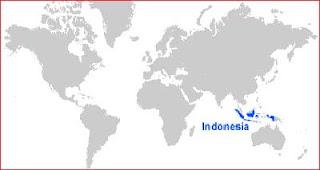 Gambar Peta letak Indonesia