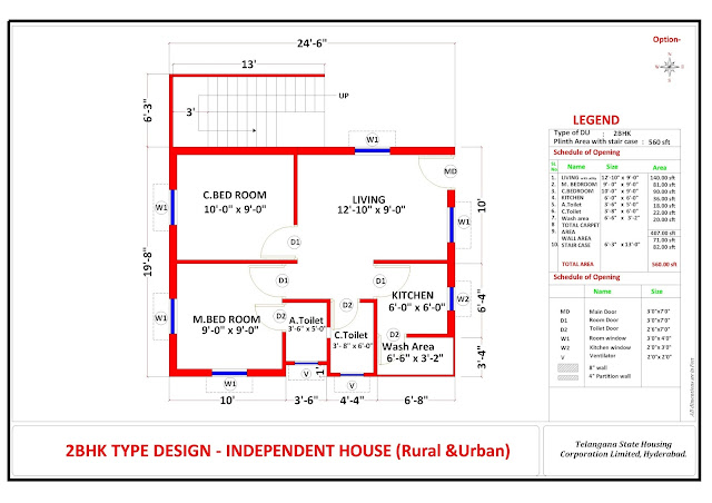 double bedroom housing scheme