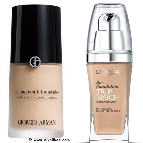 Giorgio Armani Luminous Silk Foundation Drugstore Dupe