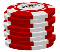 red poker chip stack