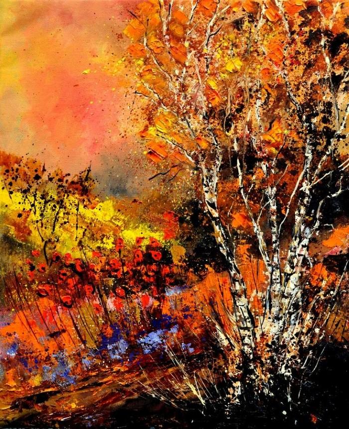 Pol Ledent. Современный художник-самоучка. Пейзажи и цветы 11