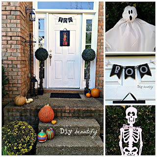 Last Minute Halloween Decorating www.diybeautify.com