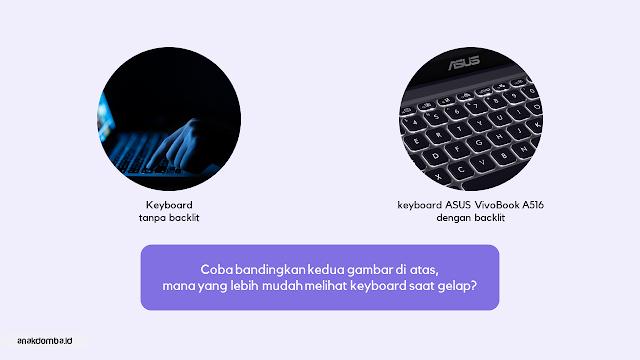 Keyboard Backlit ASUS VivoBook A516