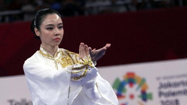 Atlet Wushu Indonesia Lindswell Kwok Sumbang Emas Ke 2 Untuk Indonesia