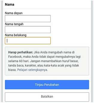 2 Cara Merubah Nama Profil Di Fb Lewat Aplikasi Facebook