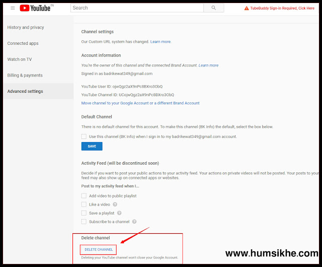 Youtube channel Kaise Delete Our Hide Karte hai Puri Prosess sikhe hindi me
