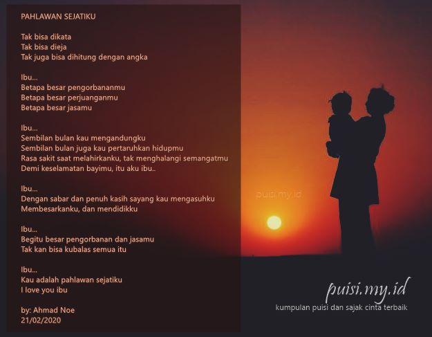 Gambar puisi untuk ibu menyentuh hati