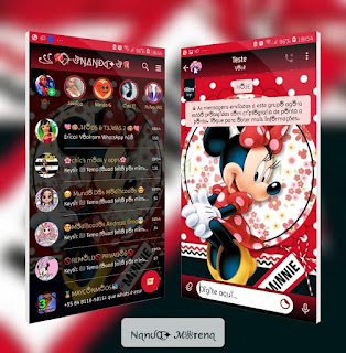 Minnie Theme For YOWhatsApp & Fouad WhatsApp By Leidiane