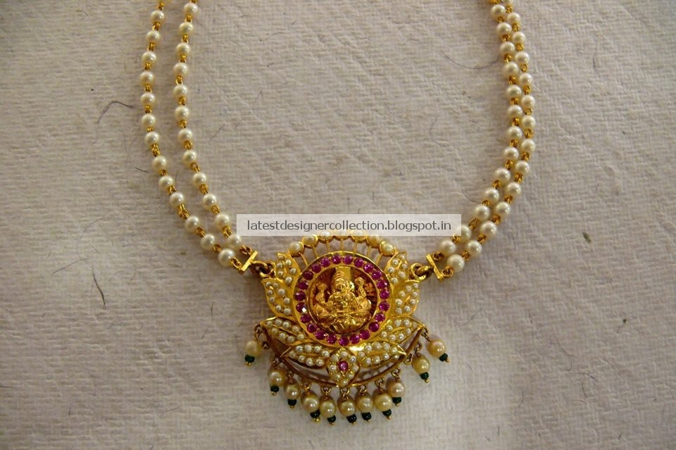Latest Indian Clothing And Jewellery Designs Gorgeous And Traditional Pearls Necklace With Gemstones And Rubys