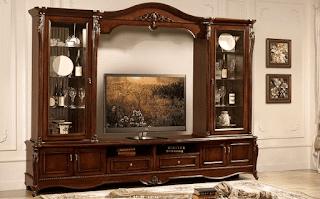 Lemari tv minimalis kayu