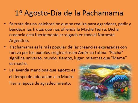 El Galeón Digital 1º De Agosto Día De La Pachamama