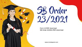 SB Order 23/2021, SB Order 23/2021 PDF download, SB order 23 2021