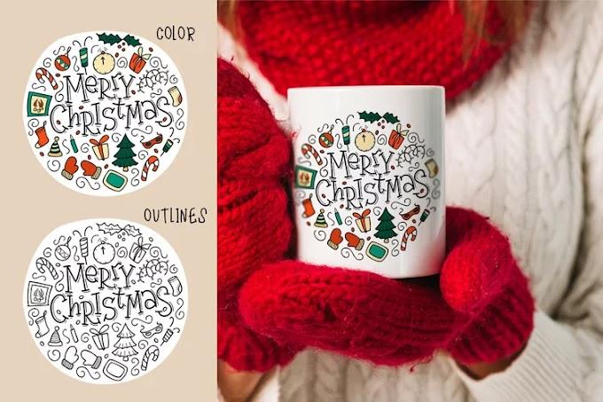 Christmas svg, cricut svg. Merry christmas sublimation