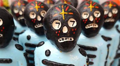 Bones Black & Blue Edition Resin Figure by Mike Egan