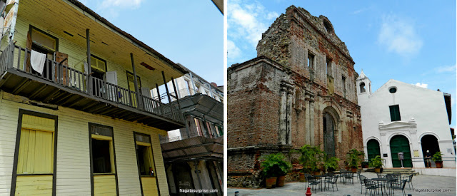 Construções antigas no Casco Viejo da Cidade do Panamá