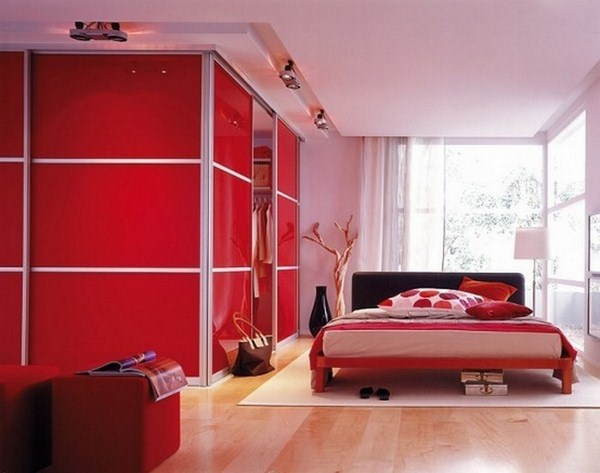 Red Bedroom Design A Striking Features