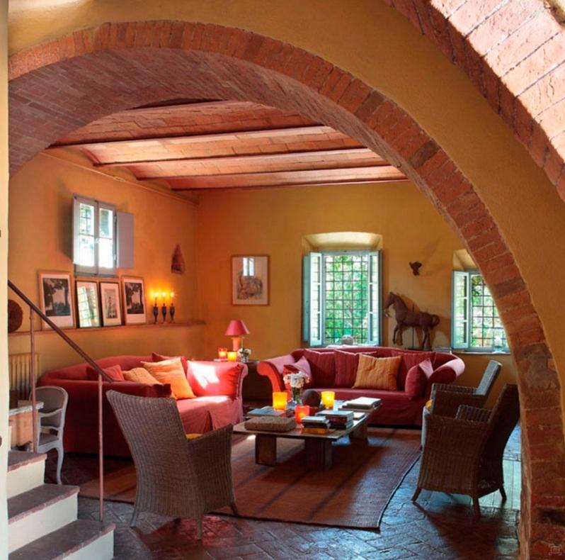 Colores Tierra Para Decorar Una Casa De Campo Italiana