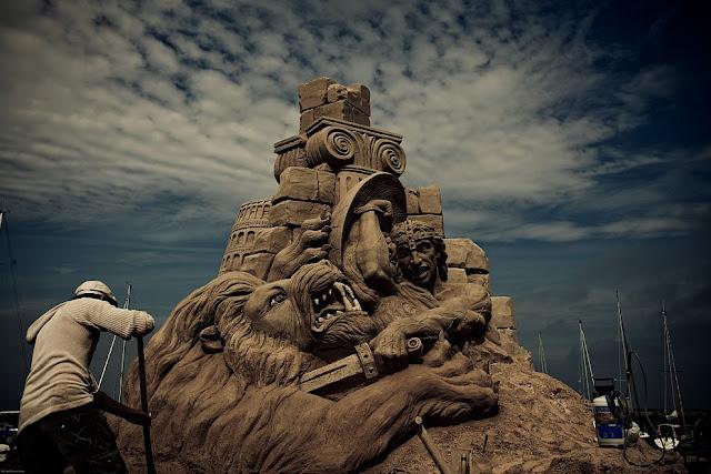 Sand Sculpture Festival in Denmark. (Photo by Michael Dreves Beier)