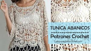 Patrones de Túnica de Abanicos Crochet
