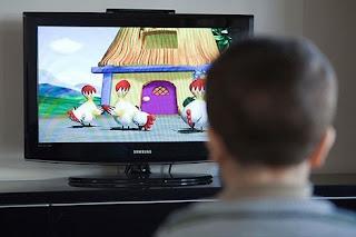 Corona and the TV screen كورونا وشاشة التلفاز