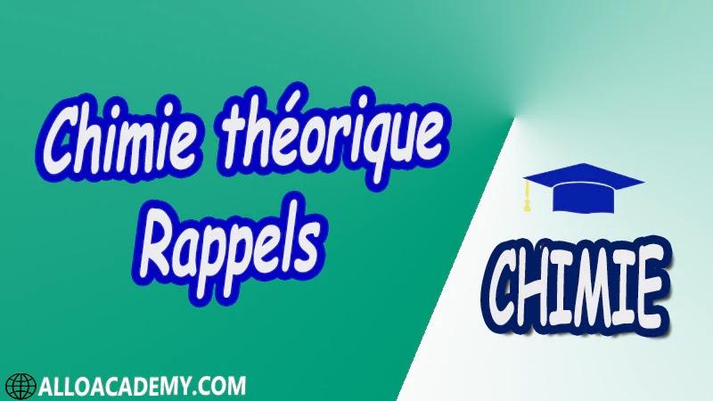 Chimie théorique - Rappels pdf