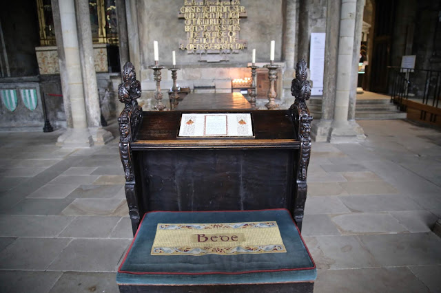 Durham Cathedral, the venerable Bede Pic:Kerstin Rodgers/msmarmitelover.com