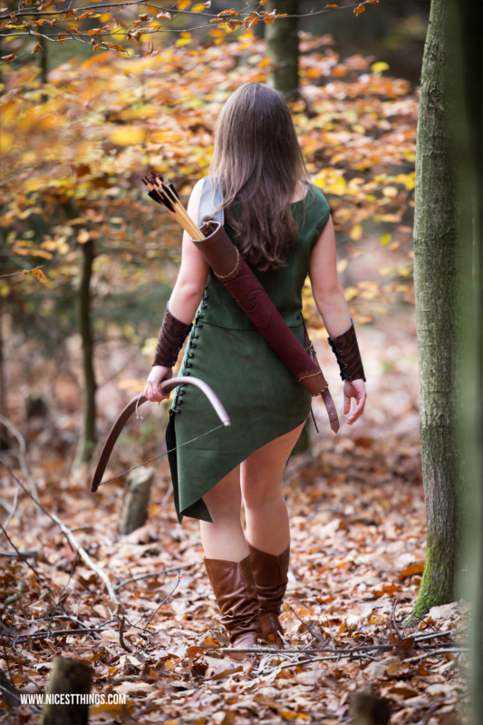 Bogenschützin Waldelfe Kostüm Outfit