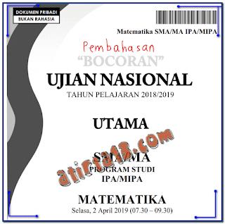 Bocoran Soal UN 2019 SMA Mapel IPA