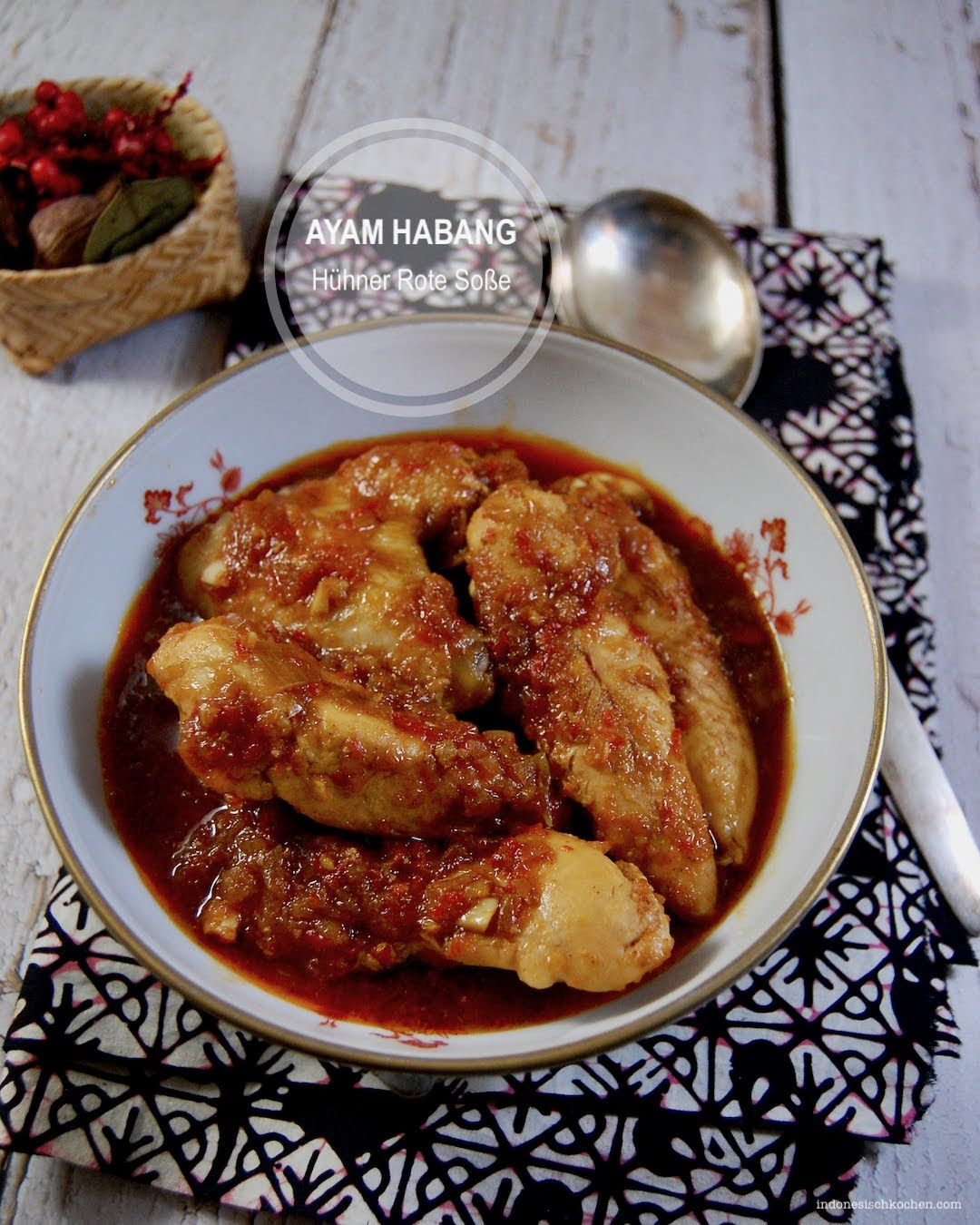 Rezept Hühner Rote Soße Indonesisch Kochen, Nämlich Ayam Habang