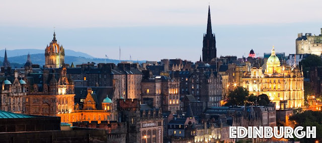 Edinburgh rooftops at dusk