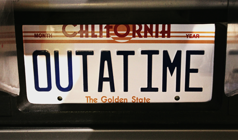 Outatime Plate Back to the Future
