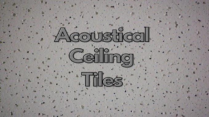Acoustical Ceiling Tiles - For Reducing Sound Pressure