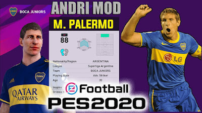 PES 2020 Faces Martin Palermo by Andri Mod