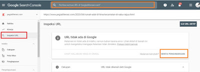 Cara submit url ke google console