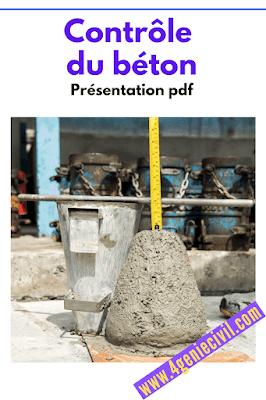 Comment contrôle le béton - présentation