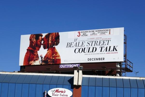 If Beale Street Could Talk Golden Globe nominee billboard