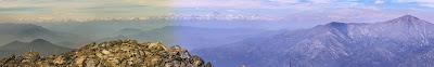 Cordillera de los Andes desde cumbre Cerro La Campana